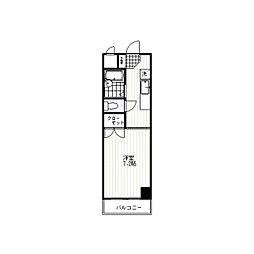 コンフォルトハイツ新宿[5階]の間取り