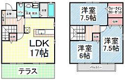 [タウンハウス] 長野県長野市平林1丁目 の賃貸【長野県 / 長野市】の間取り