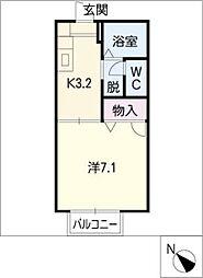 セフィラ江島[2階]の間取り