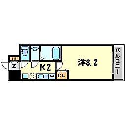 パークフラッツ尼崎[14階]の間取り