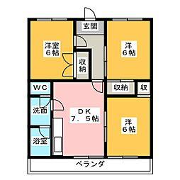 ワイズビル[6階]の間取り