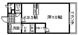 ラ ストラーダ[108号室]の間取り