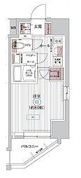 JR総武線 亀戸駅 徒歩8分の賃貸マンション 4階1Kの間取り
