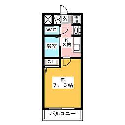 エステムコート博多・祗園ツインタワーセカンドステージ[15階]の間取り