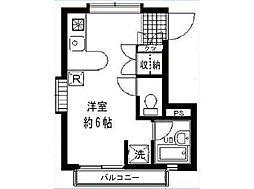 ローズガーデン駒沢[102号室]の間取り