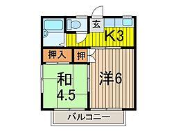 岩瀬ハイツ[2階]の間取り