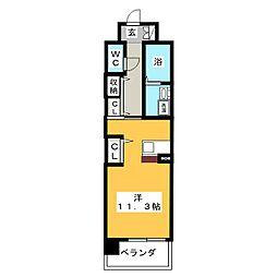 プラジュ千種[2階]の間取り