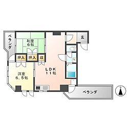 プリンスマンション東町I[2階]の間取り