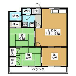 クリエートハイム251[1階]の間取り