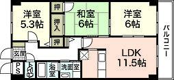 グランカーサ古江[3階]の間取り