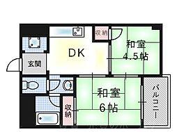 阪急西九条マンション[3階]の間取り