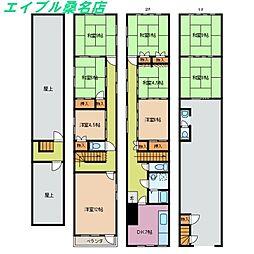[一戸建] 三重県桑名市本町 の賃貸【/】の間取り