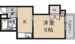 グレイスフル第2東三国2[4階]の間取り