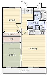 ボナールシャトー[5階]の間取り
