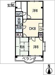 花水木[3階]の間取り