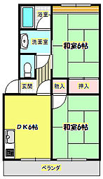 第1澤田マンションA棟[2階]の間取り