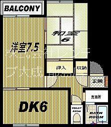 大阪府大阪市城東区関目2丁目の賃貸アパートの間取り