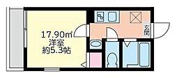 フロントオブステーション弘明寺[3階]の間取り