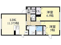 北海道札幌市東区北48条東19丁目の賃貸アパートの外観