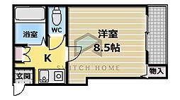 ラポルテじゅじゅ[4階]の間取り