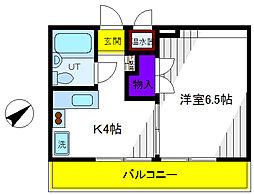 内藤レジデンス[4階]の間取り