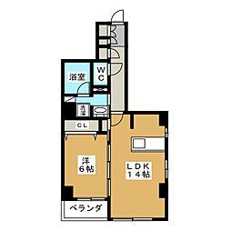 仮称 中京区下八文字町マンション[7階]の間取り