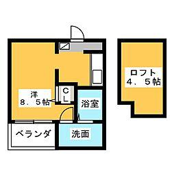 Jeunesse堀越[2階]の間取り
