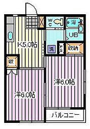 埼玉県さいたま市桜区栄和5丁目の賃貸アパートの間取り