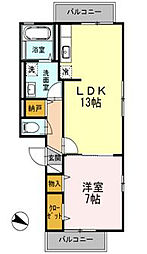 エバーグリーン湘南II[3階]の間取り