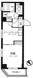 東京都渋谷区富ヶ谷2丁目の賃貸マンションの間取り
