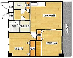 長楽寺マンションI号館[305号室]の間取り