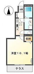 仮)東山アパート[103号室号室]の間取り