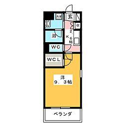 サンフォレスタ湘南 2階1Kの間取り