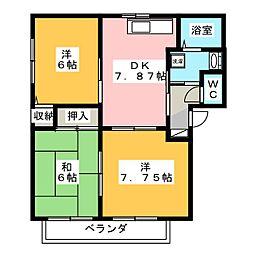 バリュージュG B棟[2階]の間取り