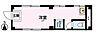 間取り,ワンルーム,面積14.64m2,賃料5.0万円,東武伊勢崎線 越谷駅 徒歩3分,,埼玉県越谷市越ヶ谷1丁目2-3