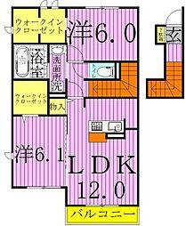 K.エスポワール[2階]の間取り