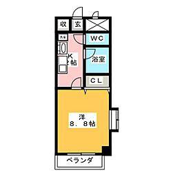 グレイスコート元郷[7階]の間取り