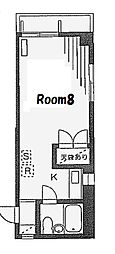 ハイムグロリア[2階]の間取り