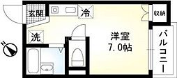 神奈川県横浜市中区山元町1の賃貸アパートの間取り