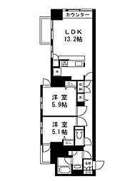ムルーエ築地[9階]の間取り