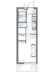 西武池袋線 石神井公園駅 徒歩22分の賃貸アパート 2階1Kの間取り