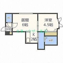 リー スクエア25[2階]の間取り