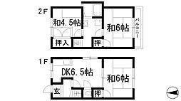 [テラスハウス] 大阪府池田市井口堂3丁目 の賃貸【/】の間取り