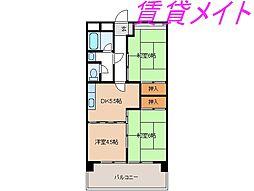 豊田ビル伊勢スカイマンション[6階]の間取り