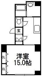 パープルタウン菊水[203号室]の間取り