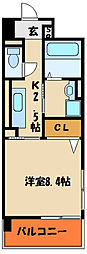 ラ・ロゼベールⅡ[4階]の間取り
