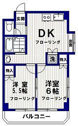 シルクガーデン南台[4階]の間取り