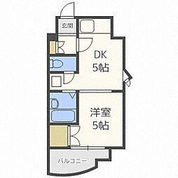 北海道札幌市北区北十六条西3丁目の賃貸マンションの間取り
