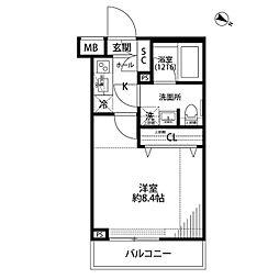 プレール・ドゥーク志村三丁目[402号室]の間取り