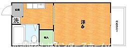 大阪府枚方市三栗1丁目の賃貸アパートの間取り